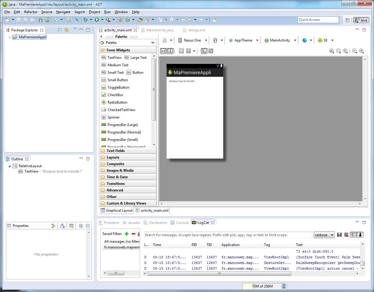 Créer un projet android