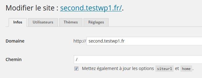 Modifier domaine WordPress multisite